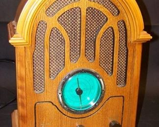 Old Time Radio Replica and Cassette Player
