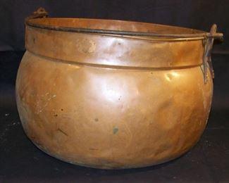 Large Copper Apple Butter Cauldron