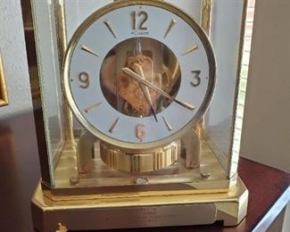 Jaeger LeCoutre Atmos Classic 1969  Brass Shelf Clock...TEXACO  Life Service Award ...This HIGH END clock is touted as the BEST EVER MADE.