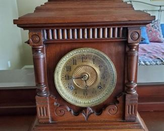 "Antique Ansonia 8-Day ""SHARON"" Mantle Clock"