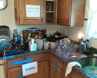Kitchen full of all types of speciality items and appliances