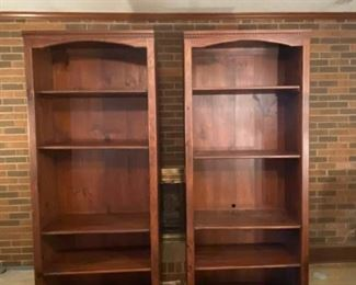 006 MahoganyColored Study Shelves