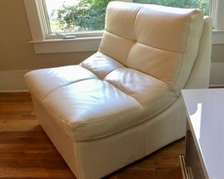 Like new Z Gallerie lush leather armless chairs