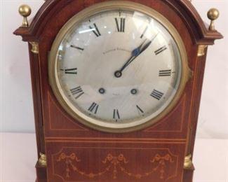 French inlaid bracket clock