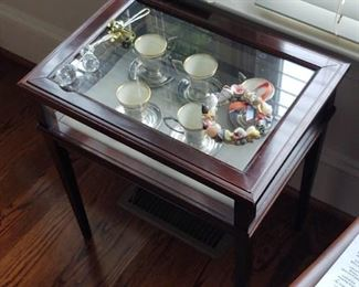 Antique glass Top Display