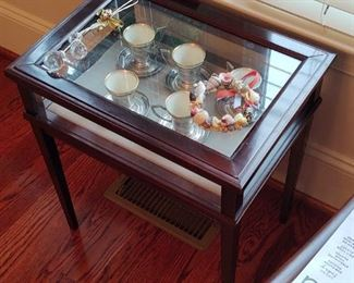 Antique Glass Top Display Table