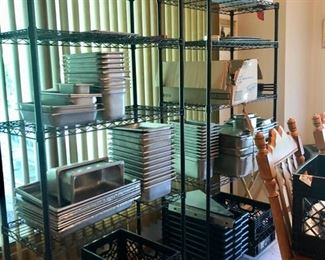 Professional cooking supplies, commercial grade pans etc.