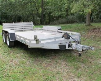 Aluma LTD 1478 14' Trailer & clear title with 4 extra wheels and tires
