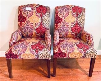 #6- Pair of chairs 24.5 inches wide slight scratches on the legs $85 for the pair
