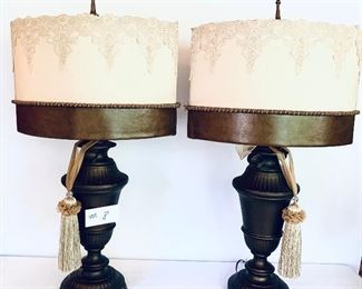 Pair of lamps 31 inches tall $90