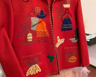Child's vintage coat made in Mexico