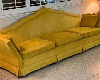 Vintage 1960s MCMYellow Sofa/Couch41x110x31HxWxD
