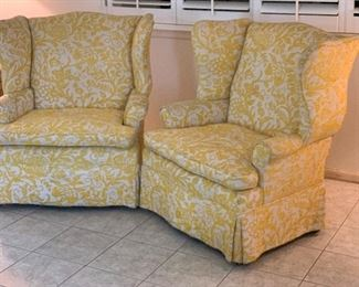 Sold Separately 1960s upholstered Wingback