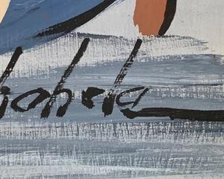 *Original* Chabela Elizabeth C. Haas Mary & Jesus Mexican Art Painting46x34x2.5inHxWxD