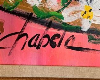 *Original* Chabela Elizabeth C. Haas Boy/Girl Sombrero Dance Painting44x32x2inHxWxD