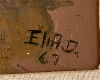 *Original* Art Girl Sitting Eli A.D 1960's Mexico29.5x21.5x2inHxWxD