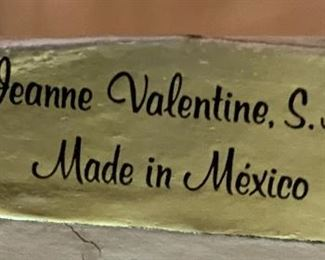 1960s Mexican MCM Jeanne Valentine 3D Wood Block Mission Church Art42.5x32.5x1.5inHxWxD