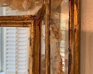 Glass Flower Preserve framed Rustic Mexico Mirror32x39x2.5inHxWxD