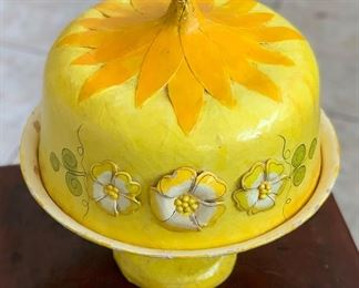 Vintage Mexican Paper Mache Cake Pamplona Cake Stand Papel Mache12in H x 12in Diameter