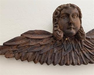 Mexican Rustic Hand Carved Angel11x28.5x4.5inHxWxD