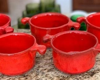 5pc California Pottery R-110 Crocks3x7x4.5inHxWxD