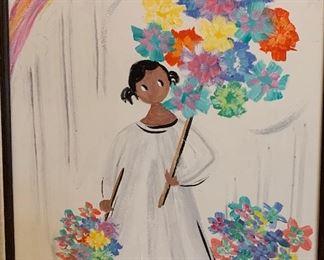 *Original* Art Chabela Elizabeth C. Haas Bouquet of Flowers Painting29x25x2inHxWxD