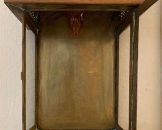 Detailed Punched Brass/Copper Sconce27x22x7inHxWxD