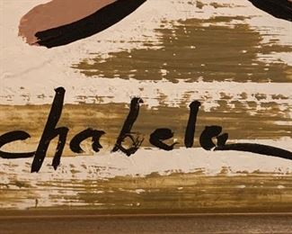 *Original* Art Chabela Elizabeth C. Haas Family Pets Balloon Painting20x16x2inHxWxD