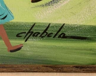 *Original* Art Chabela Elizabeth C. Haas Spilling Piñata Kids Painting26x32x2inHxWxD