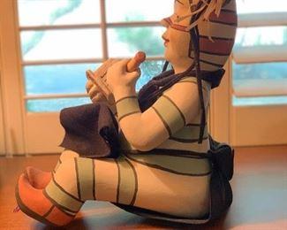 Native American Ceramic Figurine Clown Unsigned15x8x12inHxWxD