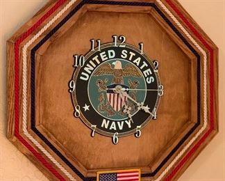 United States Navy Clock Octagon14x14in