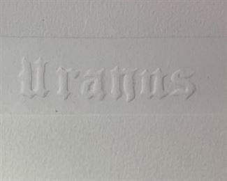 *Signed* Martin Barooshian Etching Uranus II/XV24x25in