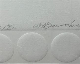 *Signed* Martin Barooshian Etching Intaglio Juno II/XV21.5x31x.5inHxWxD