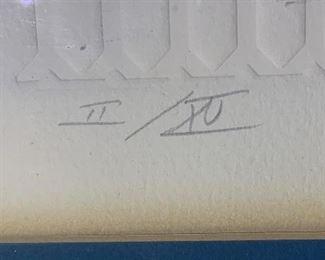*Signed* Martin Barooshian Etching Intaglio Venus II/XV23.5x26x.5inHxWxD