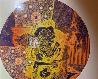 *Signed* Martin Barooshian Etching Intaglio Sun II/XV23.5x21x.5inHxWxD