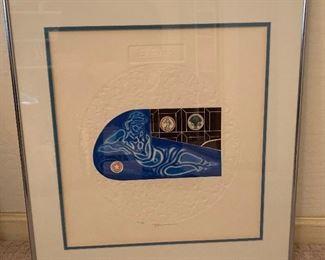 *Signed* Martin Barooshian Etching Intaglio Earth II/XV20.5x21.5x.5inHxWxD