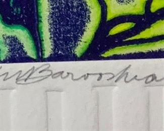 *Signed* Martin Barooshian Etching Intaglio Saturn II/XV22.5x19x.5inHxWxD
