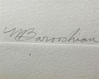*Signed* Martin Barooshian Etching Intaglio Pluto II/XV22.5x18.5x.5inHxWxD