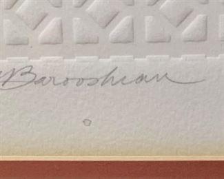 *Signed* Martin Barooshian Etching Intaglio Neptune II/XV22.25x22.25x.5inHxWxD