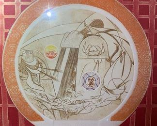*Signed* Martin Barooshian Etching Intaglio Jupiter II/XV23.5x26x.5inHxWxD