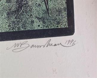 *Signed* Martin Barooshian Etching Intaglio20x17.5x.5inHxWxD