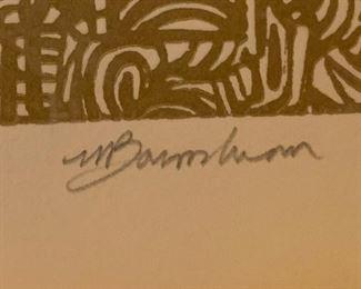 *Signed* Martin Barooshian Etching Intaglio  Small ELAD10x11x2inHxWxD