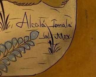Vintage Mexican Art Alcala Tonala Jal Mexico23x12x1inHxWxD