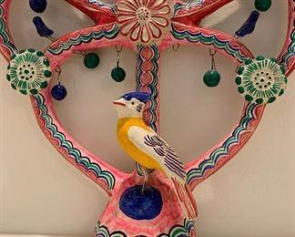"""#2 Tree of Life Mexican Folk Art Candelabra FLORES FAMILY""23x16x4inHxWxD"