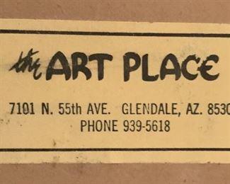 *Original* Vintage Art Girl w/ Balloon21x11x2inHxWxD