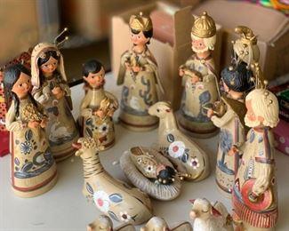 15pc Mexican Ceramic Nativity Set