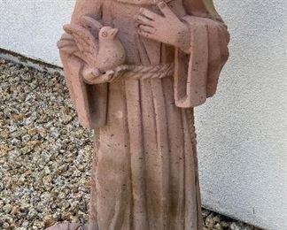 St Francis Garden Statue Cast Stone30 x 14 x 10HxWxD
