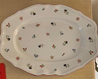 Villeroy & Boch Petite Fleur Platter Large Serving2x17x13inHxWxD