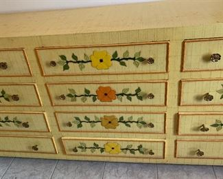 1960s Jeanne Valentine Mexican MCM 12 Drawer Dresser36x96x22inHxWxD