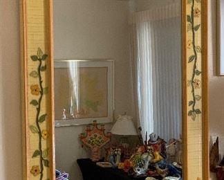 1960s Jeanne Valentine Mexican MCM Mirror48x36x2inHxWxD